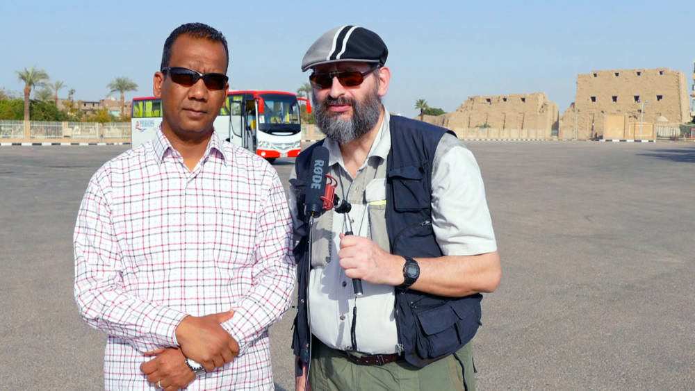 Interview zum Karnak Tempel (Luxor)